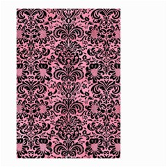 Damask2 Black Marble & Pink Watercolor Small Garden Flag (two Sides) by trendistuff
