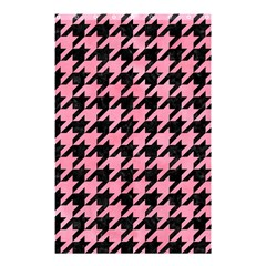 Houndstooth1 Black Marble & Pink Watercolor Shower Curtain 48  X 72  (small)  by trendistuff