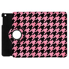 Houndstooth1 Black Marble & Pink Watercolor Apple Ipad Mini Flip 360 Case by trendistuff