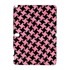 Houndstooth2 Black Marble & Pink Watercolor Galaxy Note 1 by trendistuff