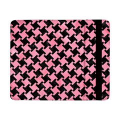 Houndstooth2 Black Marble & Pink Watercolor Samsung Galaxy Tab Pro 8 4  Flip Case by trendistuff