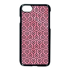 Hexagon1 Black Marble & Pink Watercolor Apple Iphone 7 Seamless Case (black) by trendistuff