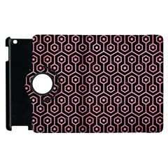 Hexagon1 Black Marble & Pink Watercolor (r) Apple Ipad 2 Flip 360 Case by trendistuff
