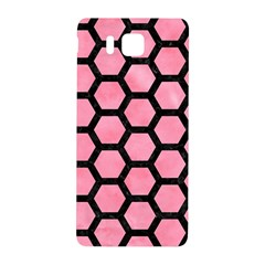 Hexagon2 Black Marble & Pink Watercolor Samsung Galaxy Alpha Hardshell Back Case by trendistuff