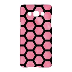Hexagon2 Black Marble & Pink Watercolor Samsung Galaxy A5 Hardshell Case  by trendistuff