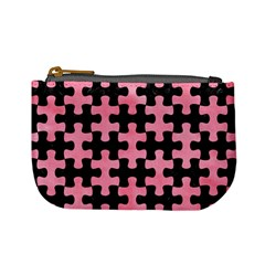 Puzzle1 Black Marble & Pink Watercolor Mini Coin Purses by trendistuff