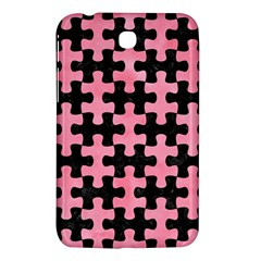 Puzzle1 Black Marble & Pink Watercolor Samsung Galaxy Tab 3 (7 ) P3200 Hardshell Case  by trendistuff