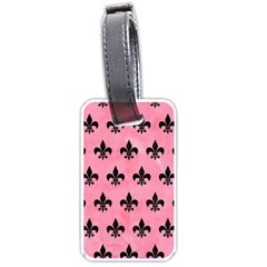 Royal1 Black Marble & Pink Watercolor (r) Luggage Tags (one Side)  by trendistuff