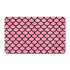 Scales1 Black Marble & Pink Watercolor Magnet (rectangular) by trendistuff