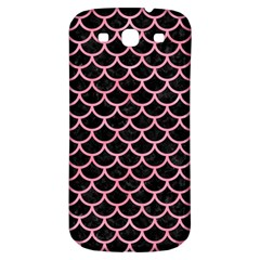 Scales1 Black Marble & Pink Watercolor (r) Samsung Galaxy S3 S Iii Classic Hardshell Back Case by trendistuff
