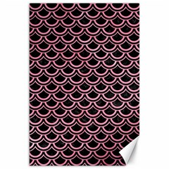 Scales2 Black Marble & Pink Watercolor (r) Canvas 20  X 30   by trendistuff