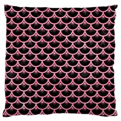 Scales3 Black Marble & Pink Watercolor (r) Large Cushion Case (two Sides) by trendistuff