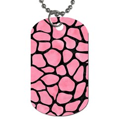 Skin1 Black Marble & Pink Watercolor (r) Dog Tag (two Sides) by trendistuff