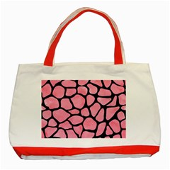 Skin1 Black Marble & Pink Watercolor (r) Classic Tote Bag (red) by trendistuff