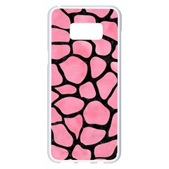 Skin1 Black Marble & Pink Watercolor (r) Samsung Galaxy S8 Plus White Seamless Case by trendistuff