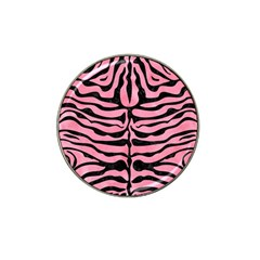 Skin2 Black Marble & Pink Watercolor Hat Clip Ball Marker by trendistuff