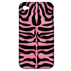 Skin2 Black Marble & Pink Watercolor (r) Apple Iphone 4/4s Hardshell Case (pc+silicone)