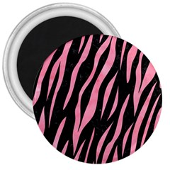 Skin3 Black Marble & Pink Watercolor (r) 3  Magnets by trendistuff