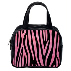 Skin4 Black Marble & Pink Watercolor Classic Handbags (one Side)