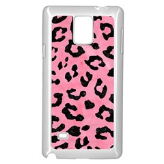 Skin5 Black Marble & Pink Watercolor (r) Samsung Galaxy Note 4 Case (white) by trendistuff