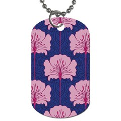 Beautiful Art Nouvea Floral Pattern Dog Tag (one Side) by 8fugoso