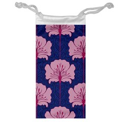 Beautiful Art Nouvea Floral Pattern Jewelry Bag by 8fugoso