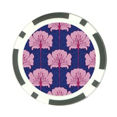 Beautiful Art Nouvea Floral Pattern Poker Chip Card Guard by 8fugoso