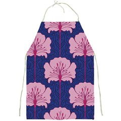 Beautiful Art Nouvea Floral Pattern Full Print Aprons by 8fugoso