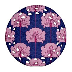 Beautiful Art Nouvea Floral Pattern Ornament (round Filigree) by 8fugoso
