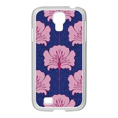 Beautiful Art Nouvea Floral Pattern Samsung Galaxy S4 I9500/ I9505 Case (white) by 8fugoso