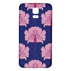 Beautiful Art Nouvea Floral Pattern Samsung Galaxy S5 Back Case (white) by 8fugoso