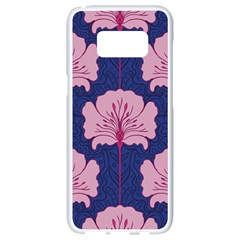 Beautiful Art Nouvea Floral Pattern Samsung Galaxy S8 White Seamless Case by 8fugoso