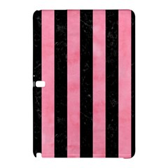 Stripes1 Black Marble & Pink Watercolor Samsung Galaxy Tab Pro 12 2 Hardshell Case by trendistuff