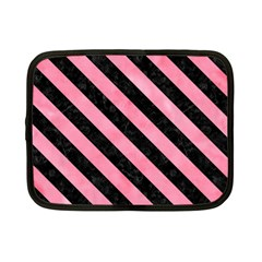 Stripes3 Black Marble & Pink Watercolor Netbook Case (small)  by trendistuff