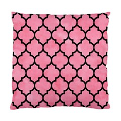 Tile1 Black Marble & Pink Watercolor Standard Cushion Case (two Sides) by trendistuff