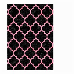 Tile1 Black Marble & Pink Watercolor (r) Small Garden Flag (two Sides) by trendistuff