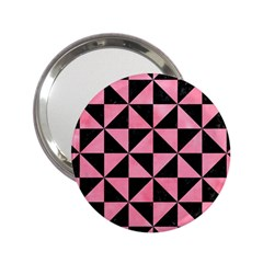 Triangle1 Black Marble & Pink Watercolor 2 25  Handbag Mirrors by trendistuff