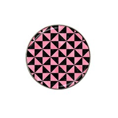 Triangle1 Black Marble & Pink Watercolor Hat Clip Ball Marker by trendistuff