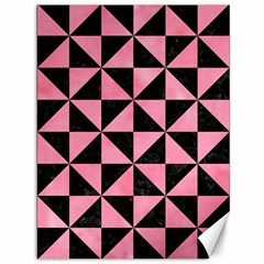 Triangle1 Black Marble & Pink Watercolor Canvas 36  X 48   by trendistuff