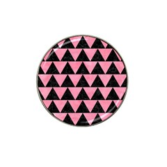 Triangle2 Black Marble & Pink Watercolor Hat Clip Ball Marker (10 Pack) by trendistuff
