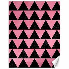 Triangle2 Black Marble & Pink Watercolor Canvas 12  X 16   by trendistuff