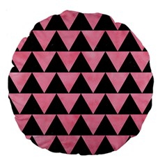 Triangle2 Black Marble & Pink Watercolor Large 18  Premium Flano Round Cushions by trendistuff