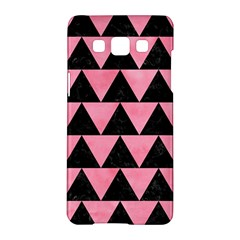 Triangle2 Black Marble & Pink Watercolor Samsung Galaxy A5 Hardshell Case  by trendistuff