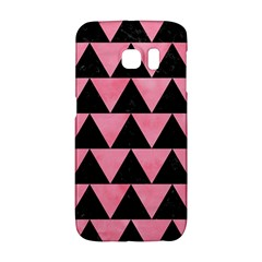 Triangle2 Black Marble & Pink Watercolor Galaxy S6 Edge by trendistuff