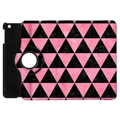 Triangle3 Black Marble & Pink Watercolor Apple Ipad Mini Flip 360 Case by trendistuff