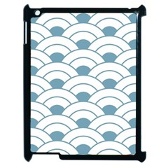 Art Deco Teal White Apple Ipad 2 Case (black)