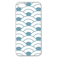 Art Deco Teal White Apple Seamless Iphone 5 Case (clear) by 8fugoso