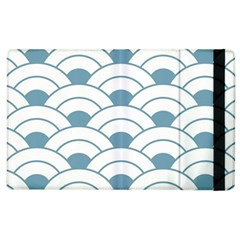 Art Deco Teal White Apple Ipad 3/4 Flip Case by 8fugoso