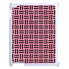 Woven1 Black Marble & Pink Watercolor Apple Ipad 2 Case (white) by trendistuff