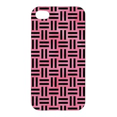 Woven1 Black Marble & Pink Watercolor Apple Iphone 4/4s Hardshell Case
